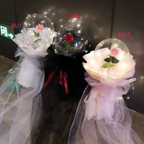 Bouquet Di Palloncini A Bolle Valentine's Day 2020 ( Johor Bahru Delivery only)
