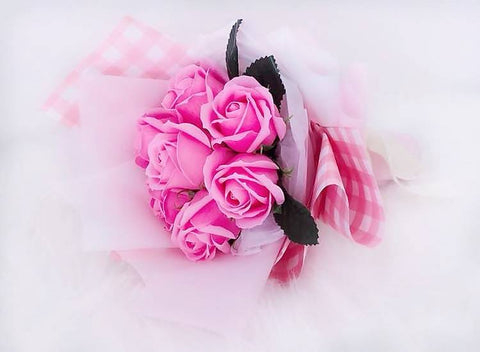 Pink Soap Rose Flower Bouquet