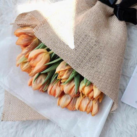 Peachy Orange Tulip Bouquet