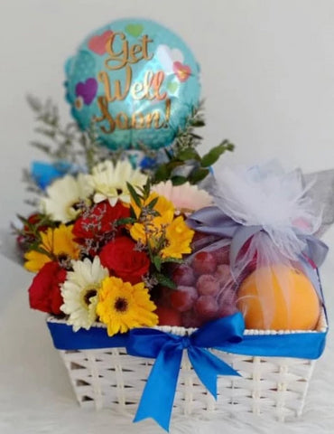 Fruits basket with balloon (Negeri Sembilan Delivery only)