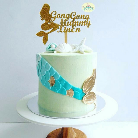 Mermaid Kisses and Starfish Wishes Buttercream Cake