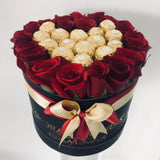Small Box of Roses + Chocolates