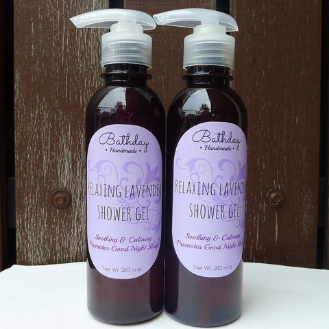 Handmade Lavender Shower Gel Twin Pack