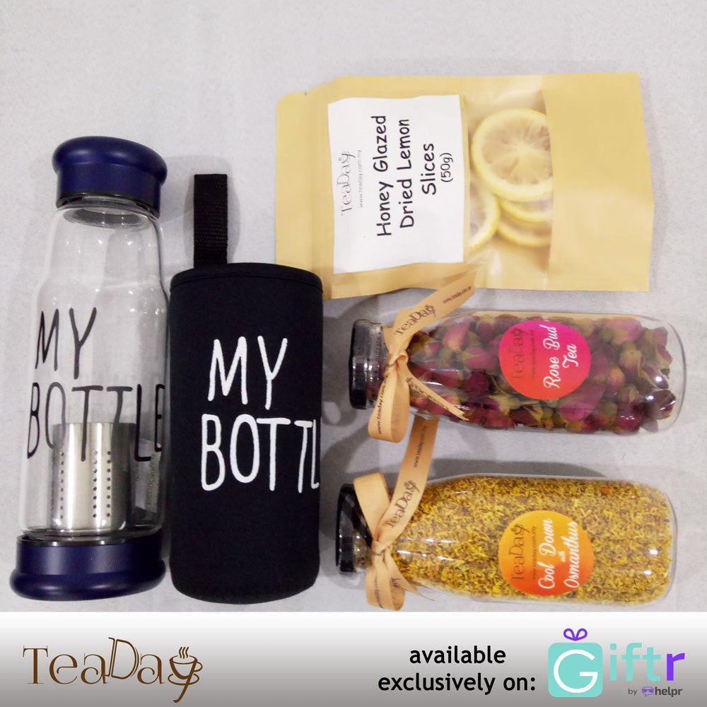Flower Tea Set: Sweet Beauty  (FREE Glass Tumbler)