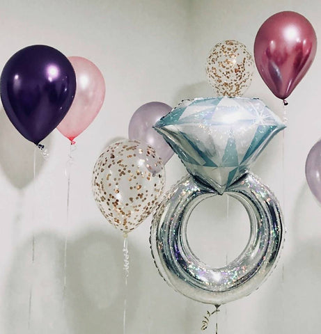 Giant Wedding Ring Balloon Bouquet