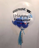 Customised 'Happy Graduation' Bubble Balloon in Blue