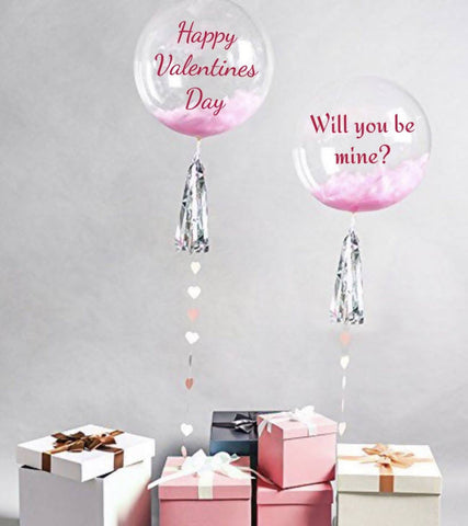 "24"" Bubble Balloon Grand Bouquet for Valentine's Day 2019"