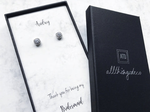 Diamante Stud Earrings (Pre-order 2-4 weeks)