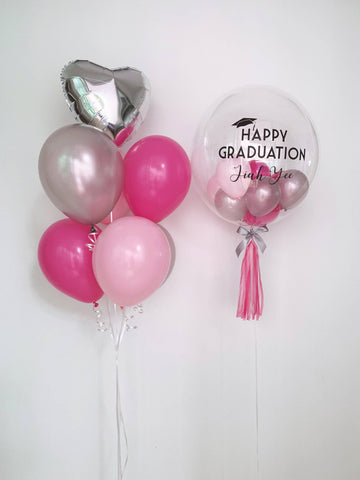 Rose Pink Theme Balloon Bouquet