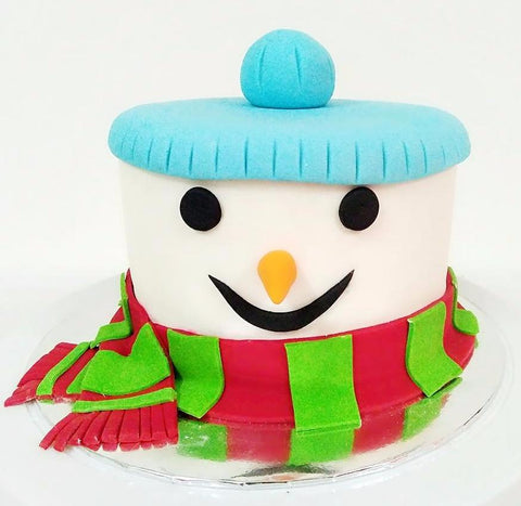 Frosty the Snowman Fondant Cake (Christmas Special)