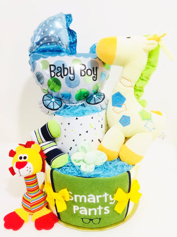 SET D Baby Boy Diaper Cake (West Malaysia Delivery only)