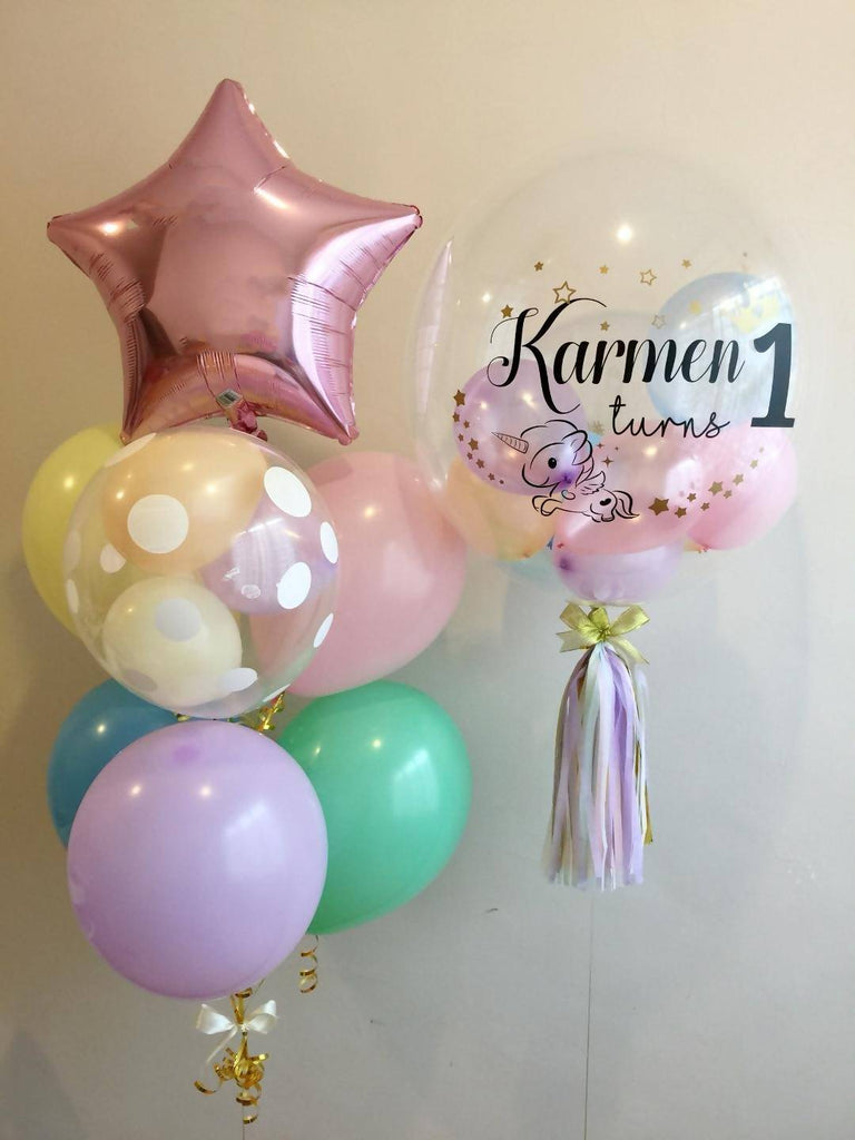 "Pastel Mix 24"" Bubble Balloon Set"