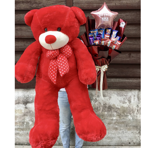 Chocolate Bouquet With Teddy Bear (Penang Delivery only)