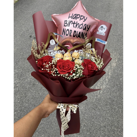 Chocolate Bouquet (Penang Delivery only)
