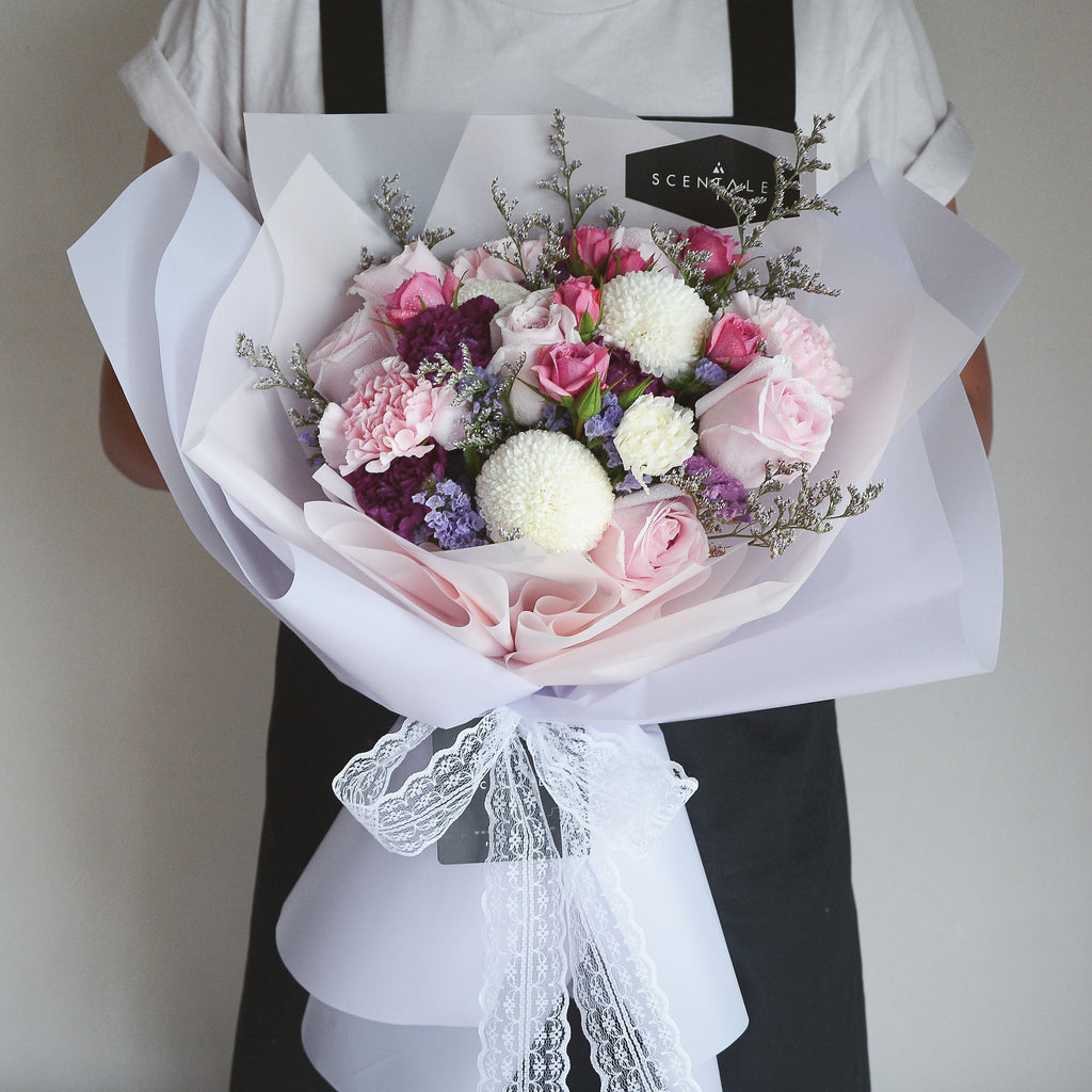 Cotton candy flower bouquet giftr malaysias leading online gift cotton candy flower bouquet izmirmasajfo