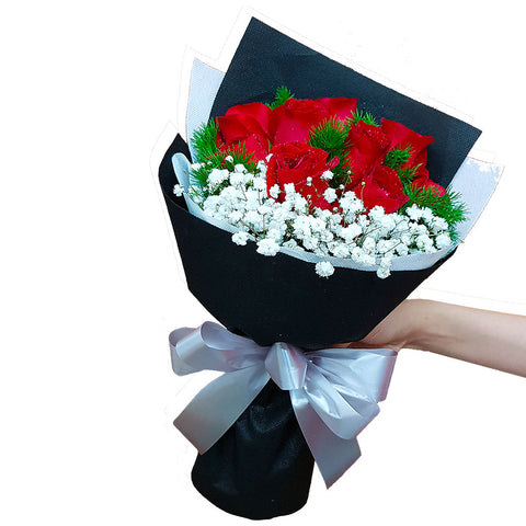 Heart Desire Red Roses Bouquet (Johor Bahru Delivery)