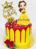 Beauty and The Beast Belle Design Cake