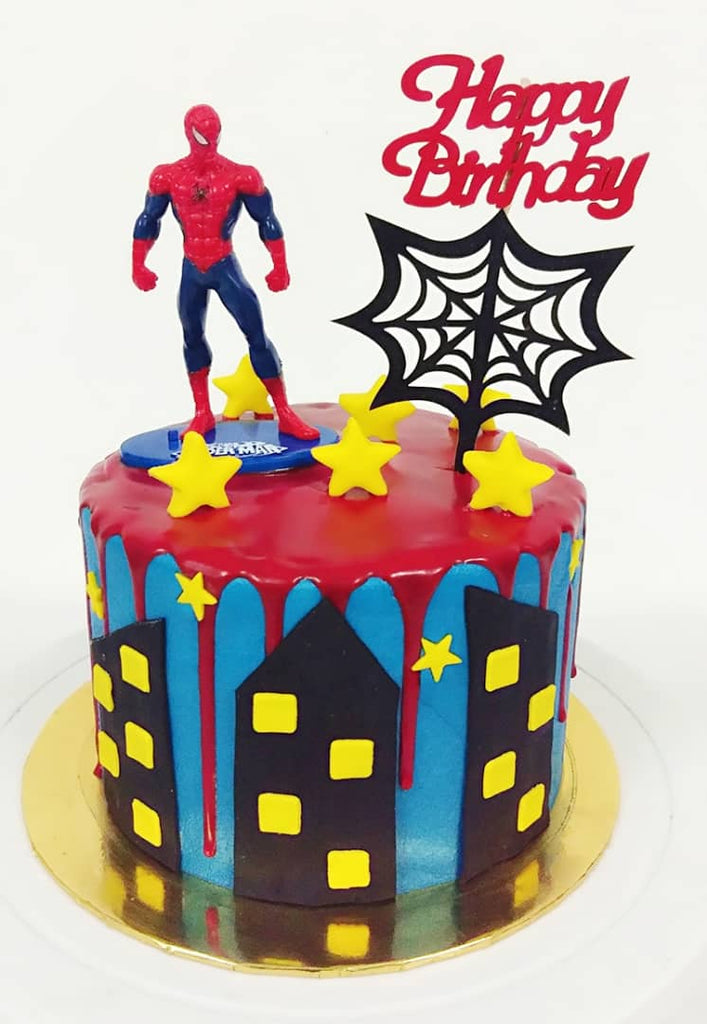 Spiderman and The Web Design Cake
