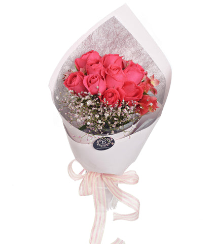Sweet Posy Cherry Pink Roses