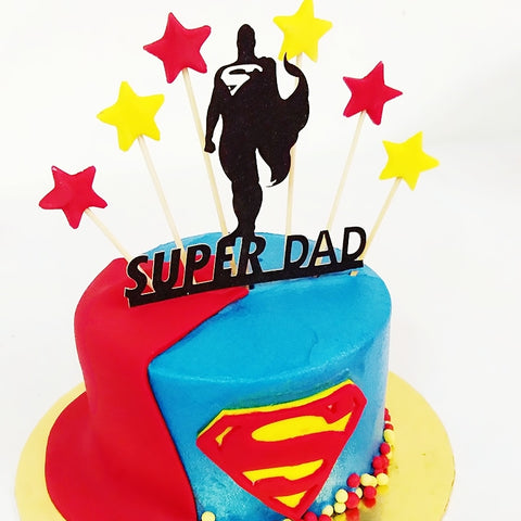 Superman Design Cake
