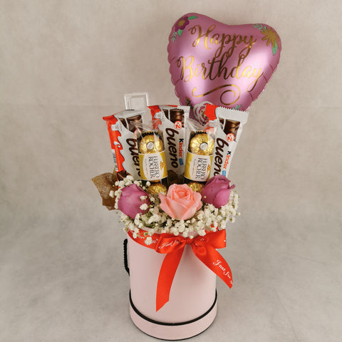 Chocolate Balloon Flower Gift Box 27