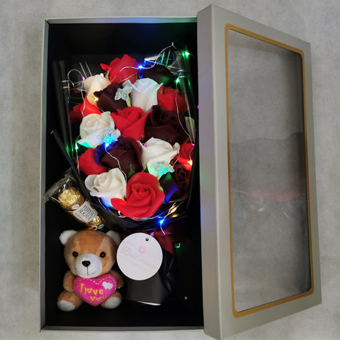 Chocolate Flower Bouquet Toy Gift Box 32