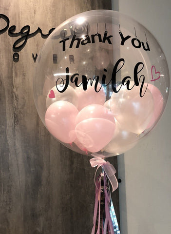 "22"" Pink Helium Bubble Balloon"