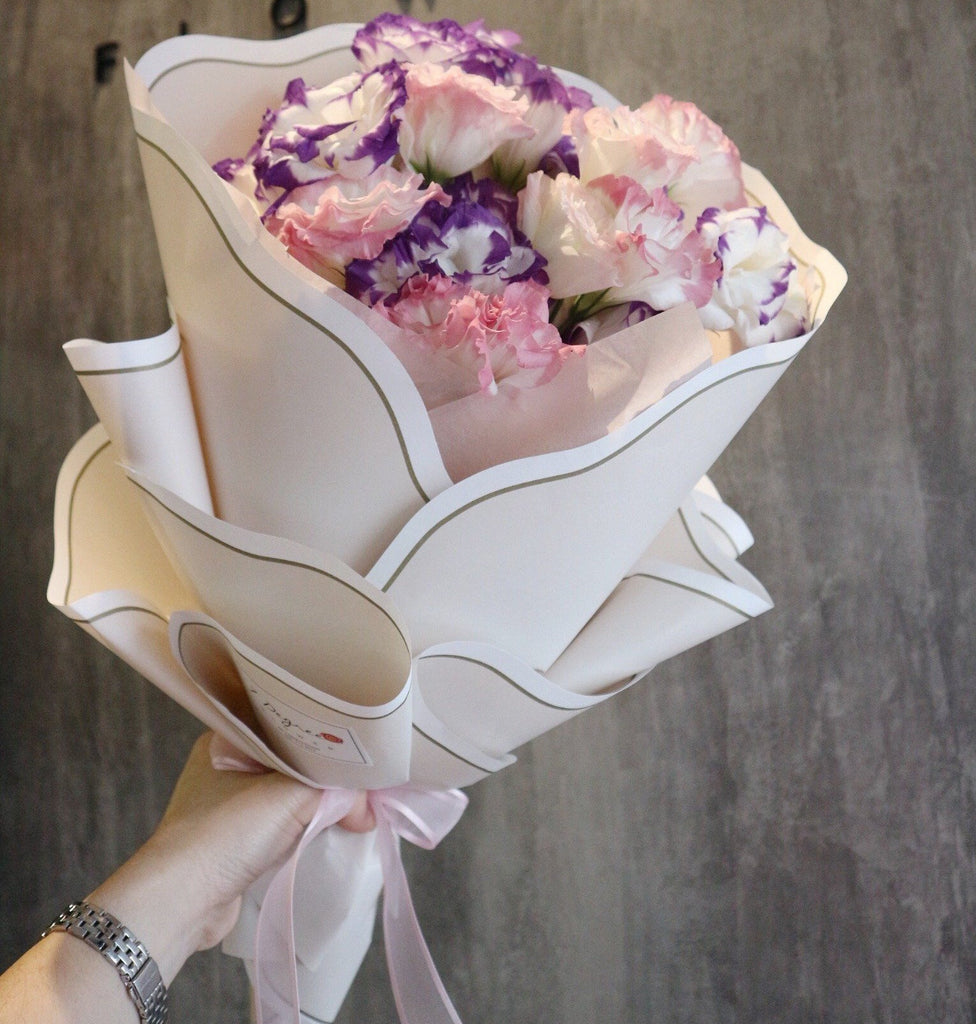 Sweet Eustoma in Purple And Pink Colour