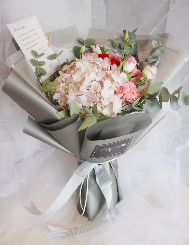 Hydrangeas with Carnations Bouquet