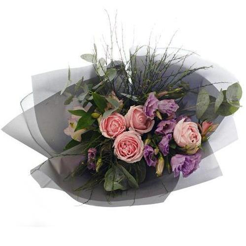 All About Us Roses & Eustomas Bouquet (Valentine's Special)