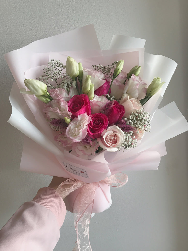 Evermore Pink Roses with Eustoma Bouquet