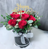 Red Roses Birthday Flower Box