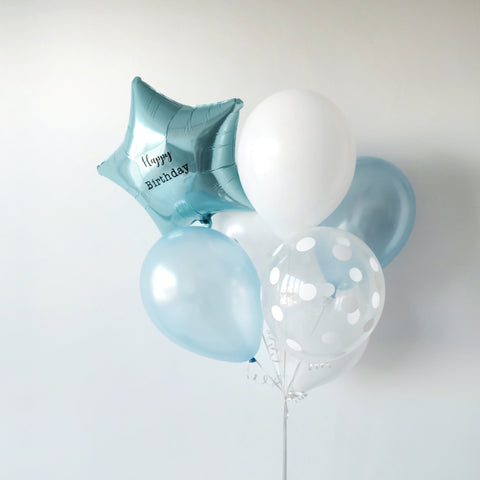 Blue Balloon Bunch