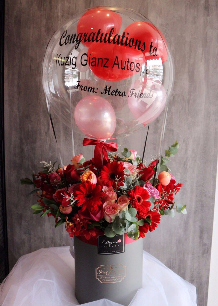 Large Sized Flower Box with Hot Air Balloon