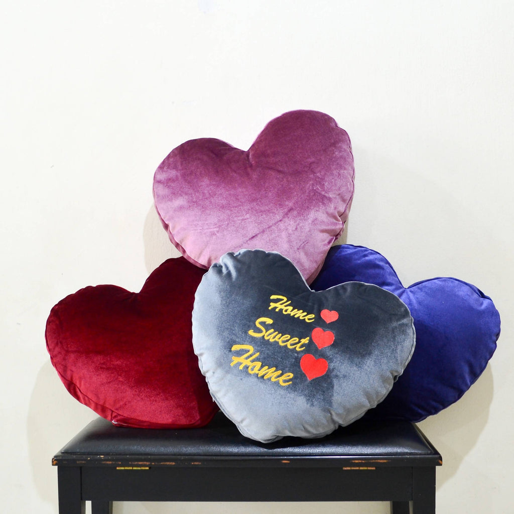 Personalised Heart Shape Pillow with Removable Cover