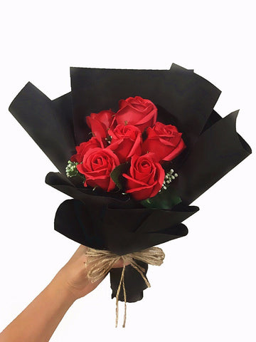 Red Soap Rose Flower Bouquet