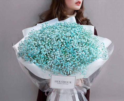Majestic Tiffany Blue Baby Breath's Bouquet II