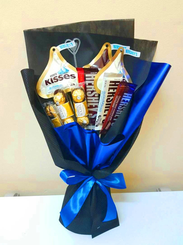 Chocolate Bouquet In Blue