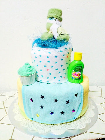 Pineapple Crumble Diaper Cake