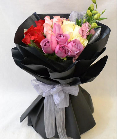 Elegant Belle Mixed Colour Bouquet (Penang Delivery only)
