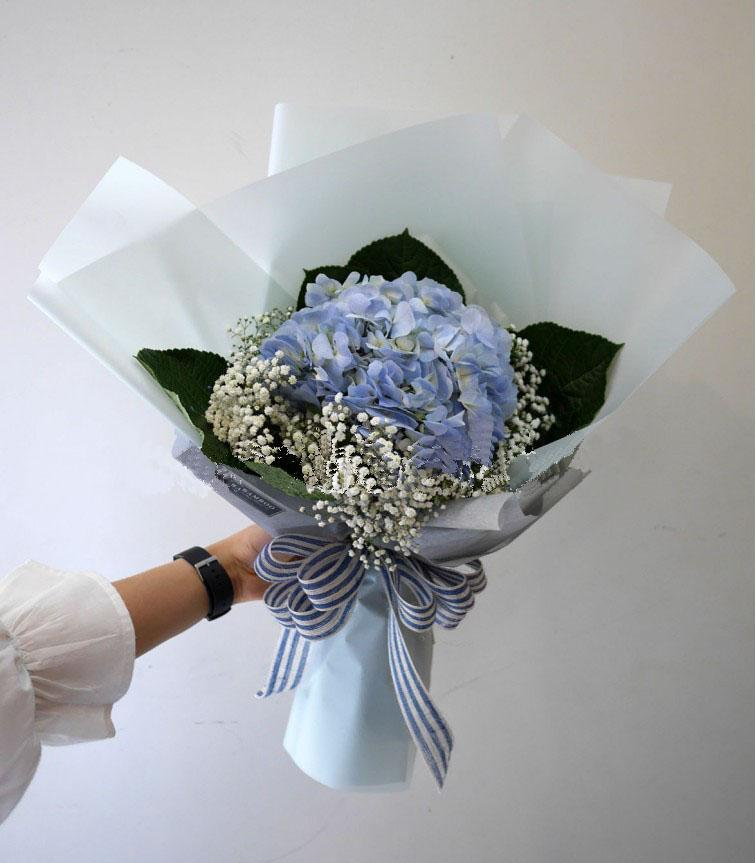 Blue Cradle Hydrangea Bouquet (Penang Delivery only)