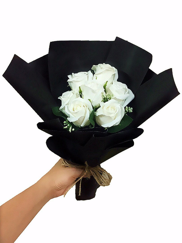 White Soap Rose Flower Bouquet Giftr Malaysias Leading Online