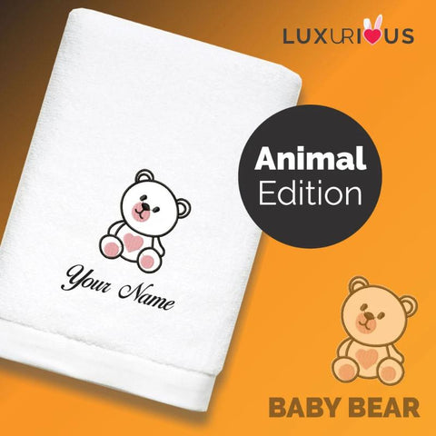 Personalised Towel Baby Bear