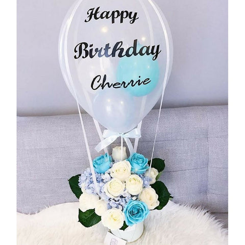 Turquoise Balloon Bloom Box