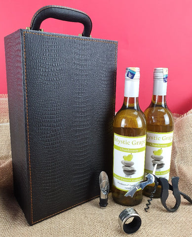 Twin Wine Gift Box with Wine Opener Set 1 (West Malaysia Delivery Only)