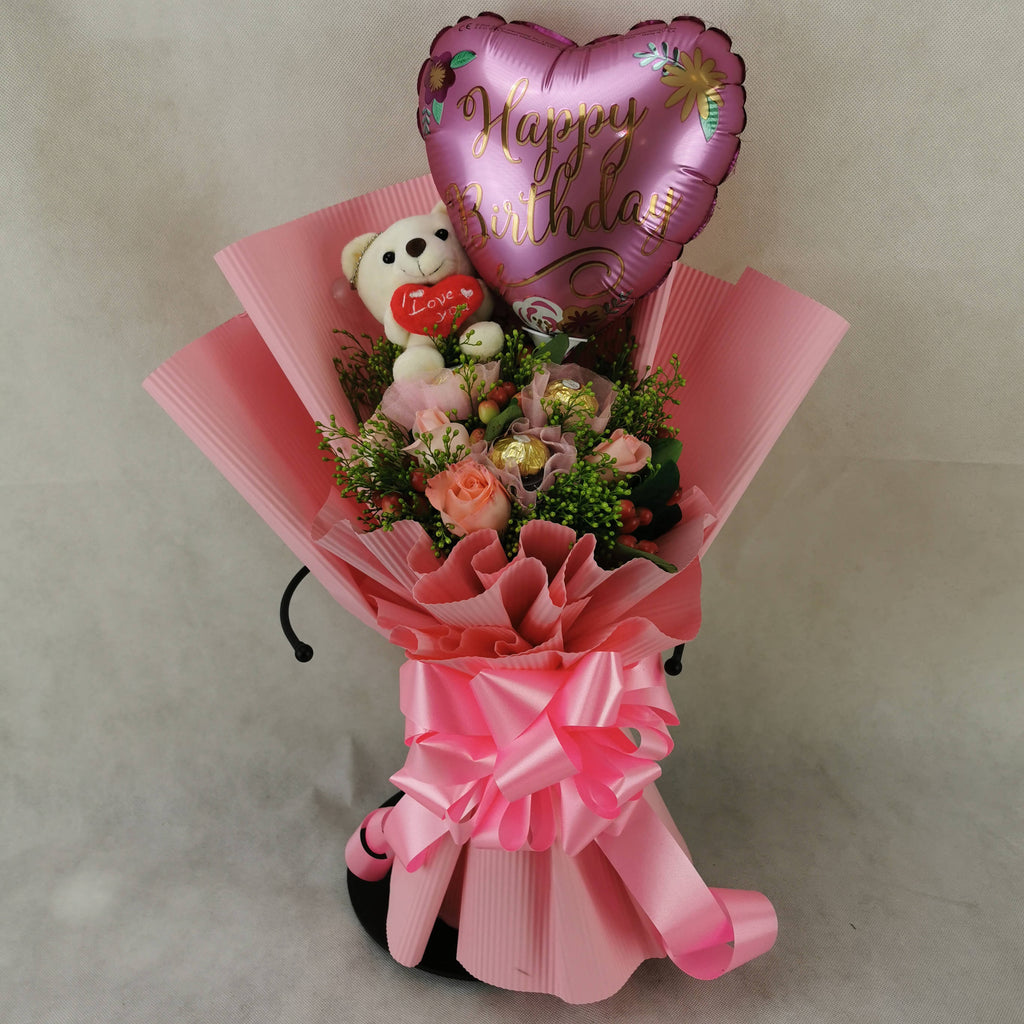 Chocolate Balloon Toy Flower Bouquet 18 Giftr Malaysia S Leading Online Gift Shop