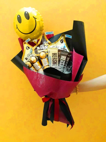Smiley Chocolate Bouquet