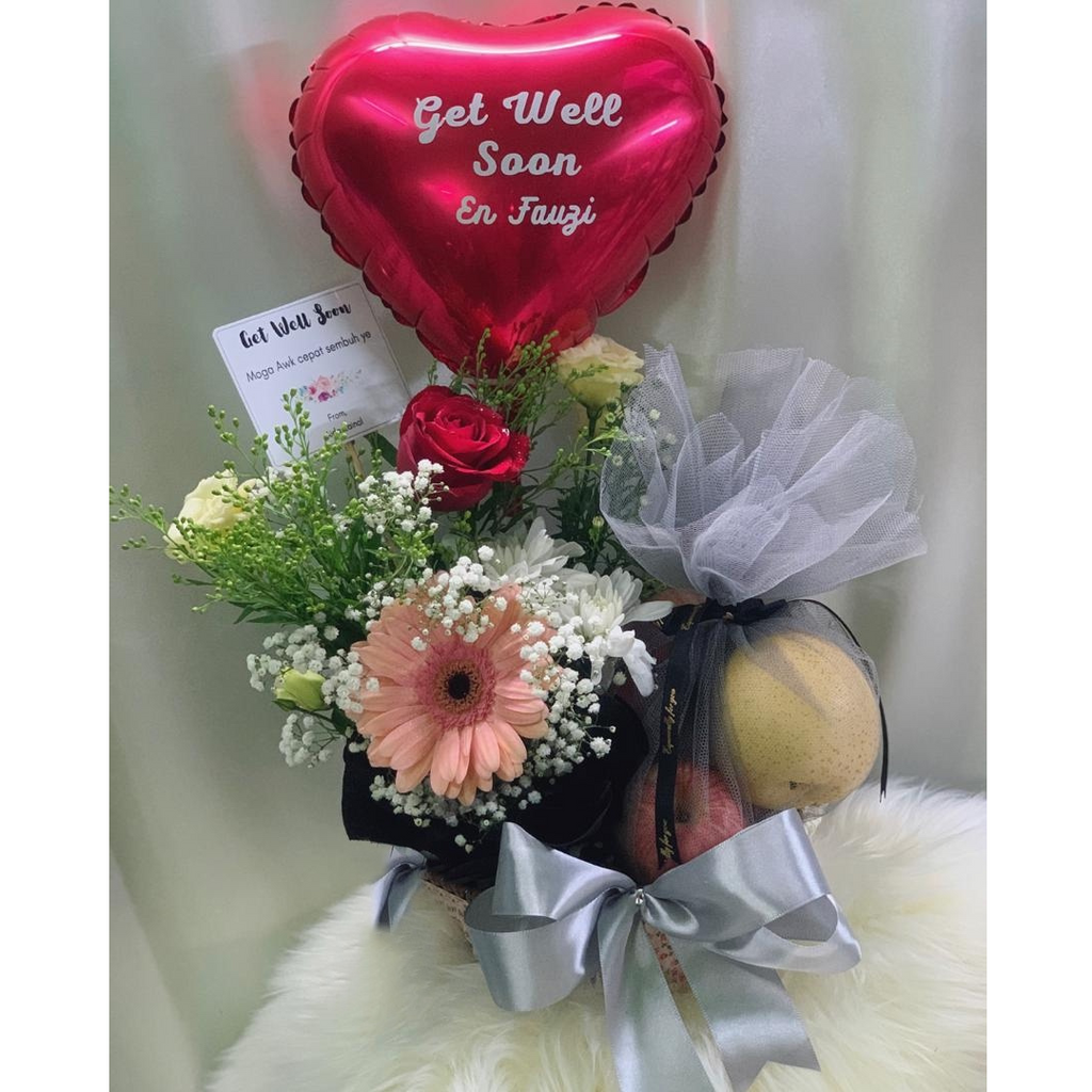 Medium Get Well Soon Fruit Basket Penang Delivery Only Giftr Malaysia S Leading Online Gift Shop