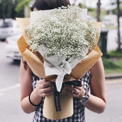 White Baby Breath Bouquet (Kuching Delivery Only)