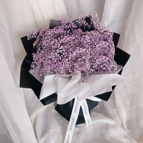 Purple baby breath Bouquet (Kuching Delivery Only)
